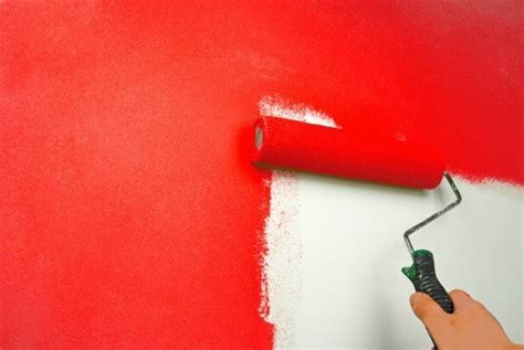 Wand Rot Streichen by Painting Walls Thriftyfun