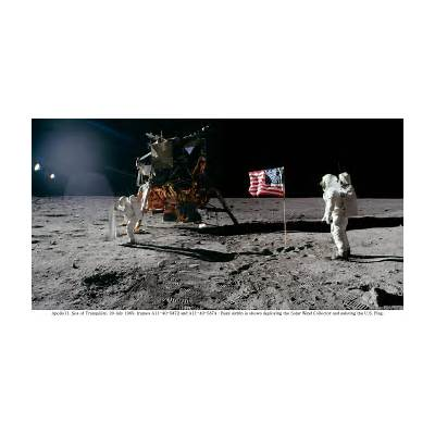 Neil Armstrong And Buzz Aldrin Walk On The Moon - Pics