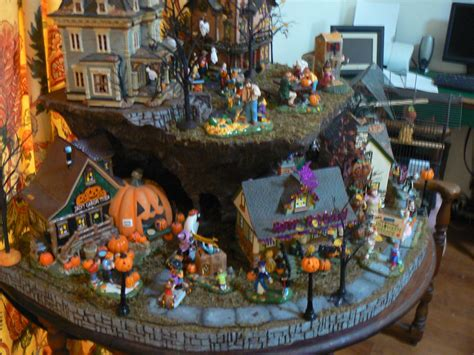 halloween village display  display base