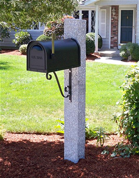 mailbox post iron bracket granite westwood mills