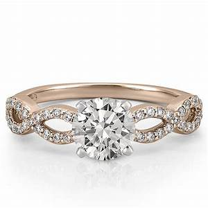 Infinity engagement ring infinity diamond ring do amore for Infinity design wedding ring