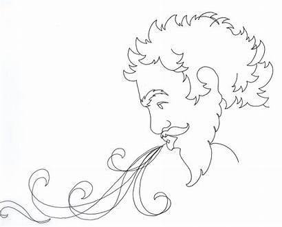 Wind Blowing Drawing Cloud Map Swirls Sketch