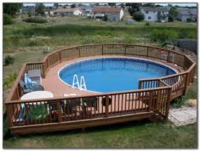 deck around above ground pool ideas decks home