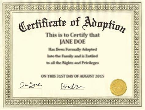 Adoption Certificate Certificate Adoptions Attorney Grossman