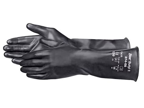 chemical resistant butyl rubber gloves large    uline