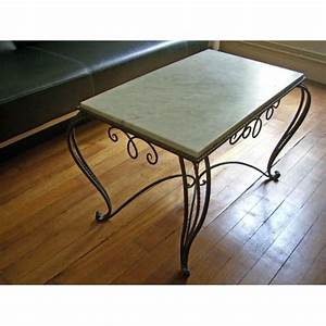 Table Basse Fer Forgé : table basse ancienne marbre et fer forg achat et vente rakuten ~ Teatrodelosmanantiales.com Idées de Décoration