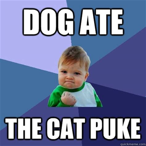 Puke Meme Ate The Cat Puke Success Kid Quickmeme