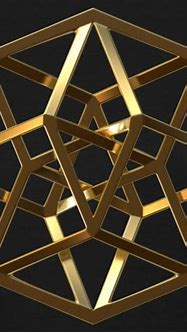 Diamondheart Designs   Tesseract Gold - Womens T-Shirt
