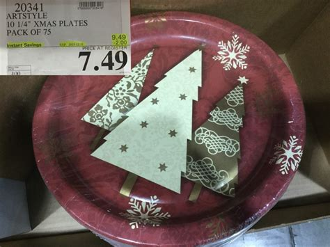costco plates christmas artstyle napkins west sales ply chinet