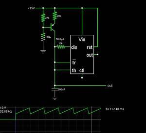 555 Sawtooth Oscillator