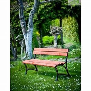 Banc De Jardin Bois : banc de jardin en bois couleur acajou et aluminium 150cm ~ Dode.kayakingforconservation.com Idées de Décoration