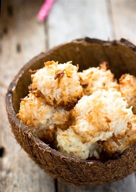 simple coconut macaroons vegangf light orange bean