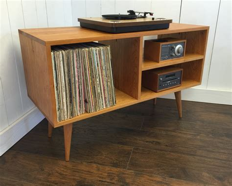 turntable cabinet new mid century modern record player console turntable