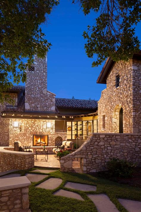 Brick and Stone Mediterranean Estate With Lovely Patio