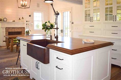 kitchen island cherry wood stained cherry wood kitchen island top in east hton ny 5023