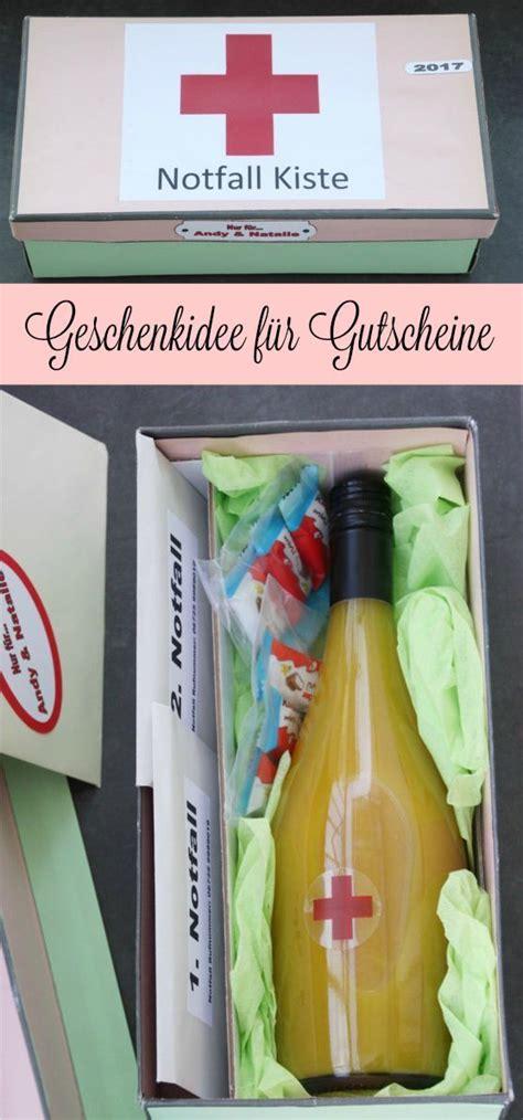 Geschenkidee Notfallkiste Geburtstag Geburtstag Geschenke Frauen Gutscheine Originell