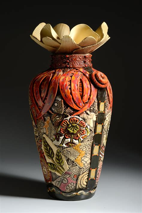extra large floor vase  narrow bottom  gail