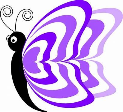 Butterfly Purple Clip Clipart Megan Clker Cliparts