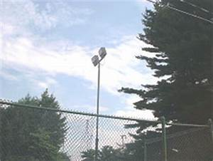 Ball Field Sports Field Lighting Poles LED and Power
