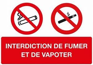 Panneau Interdiction De Fumer : panneau interdiction de fumer et de vapoter direct ~ Melissatoandfro.com Idées de Décoration