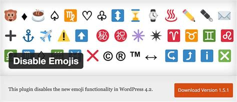 Disable Emojis In Wordpress 4.2+ For A Faster Page Load