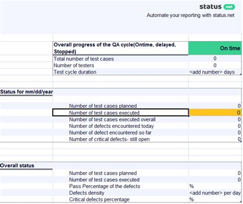 remarkable qa daily status report templates