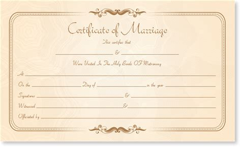 Marriage Certificate Template by Marriage Certificate Template Write Your Own Certificate