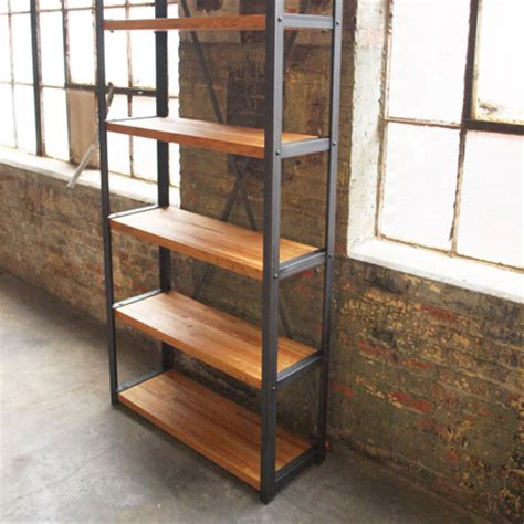 Vintage Industrial Bookcase by Cos Iron Works Modern Iron Industrial Desks Standup