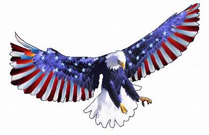 Eagle Flag 4th July America Transparent Animated