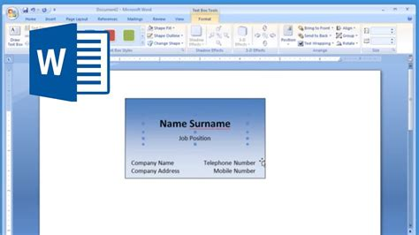 how to make id card template in word microsoft word and printing business card 1 2