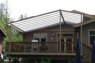 custom gable patio cover on craftsman style home craftsman deck seattle by decks and