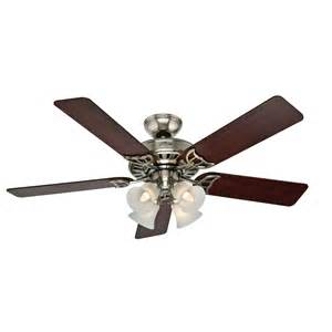 shop studio series 52 in brushed nickel downrod or mount indoor ceiling fan with