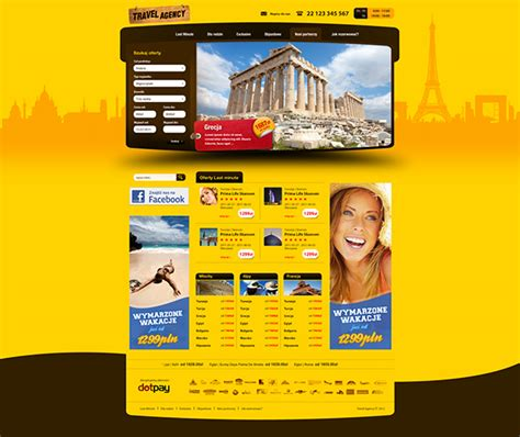 travel agency website templates  behance