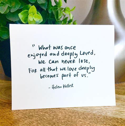 pack blank notecards helen keller quote sympathy card