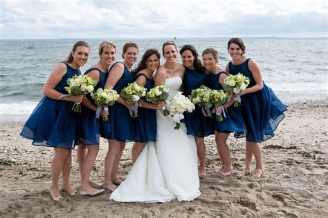 Preppy Beach Wedding With Blue Colors