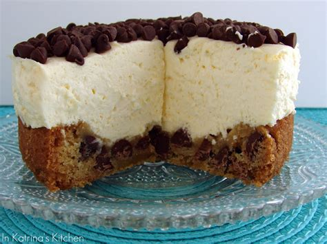 chocolate chip cookie cheesecake recipe  katrinas kitchen