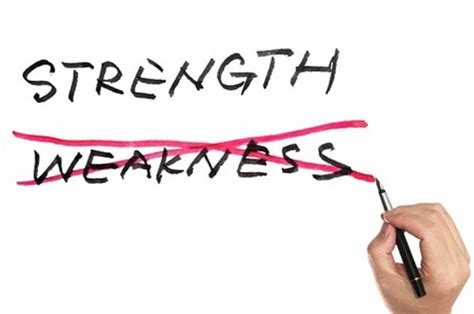 Strength And Weakness In by The Strength Weakness Deception Getting To True