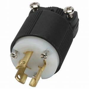 Three Phase Locking Plug 30 Amps  250 Volts