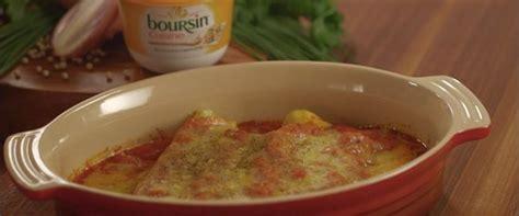 recette avec du boursin cuisine recette du chef jonathan garnier cannelloni au saumon et