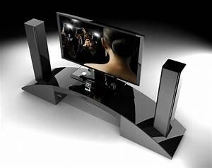 Meuble Tv Home Cinema Intégré : soundvision sv2900 noir sv 2900b achat meuble tv grosbill ~ Melissatoandfro.com Idées de Décoration