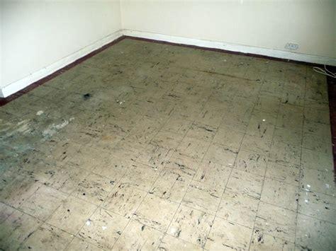 asbestos floor tile removal vinyl thermoplastic  bitumin
