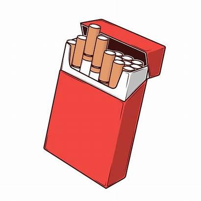 Cigarettes Clip Packet Vector Cigarette Pack Illustration