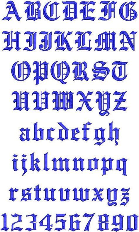 english embroidery machine monogram alphabet font set etsy
