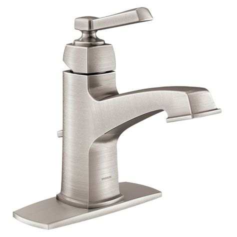 faucet for sink in bathroom moen boardwalk chrome 1 handle bathroom faucet lowe 39 s canada