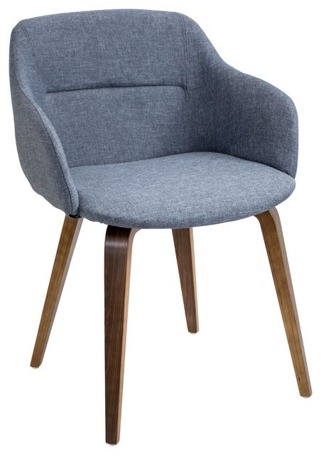 cania mid century modern chair in walnut wood