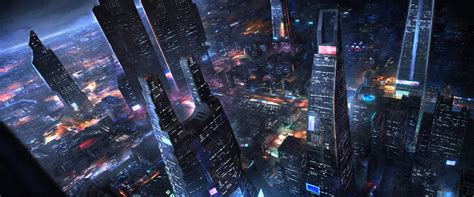 Scifi City By Artofmarius On Deviantart