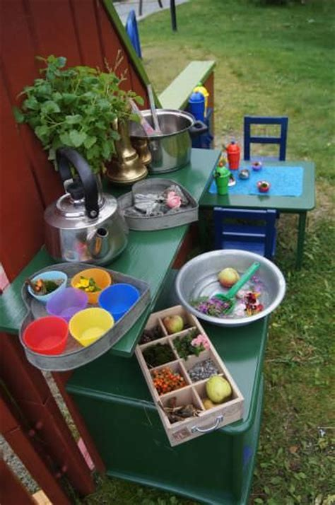 mud kitchen ideas  kids garden ideas  gardens
