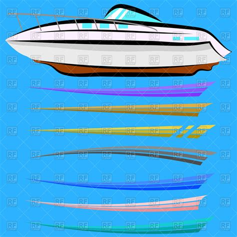 Boat Graphics Design Images by Set Of Boat Graphics Design Royalty Free Vector Clip