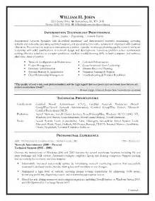 information technology resume layouts exles of hyperbole information technology resume sle