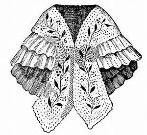 Shoulder Cape Shawl 1860 Mantilla Sewing Pattern